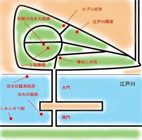 『中の島公園概略図』の画像