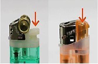 ライターのガス抜き方法1
