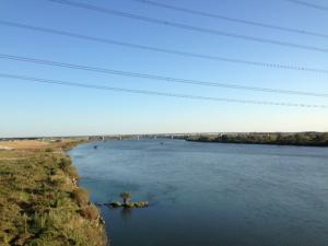 利根川と圏央道(4号建設中から撮影)