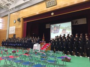 H28度五霞中卒業式1