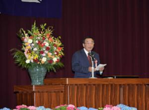 『H30中学校入学式町長』の画像