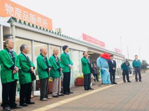 『道の駅13周年記念イベント町長あいさつ』の画像