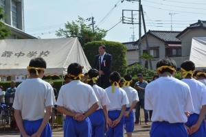 『H30中学校体育祭町長』の画像