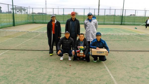 『体育協会長杯争奪テニス大会優勝写真』の画像