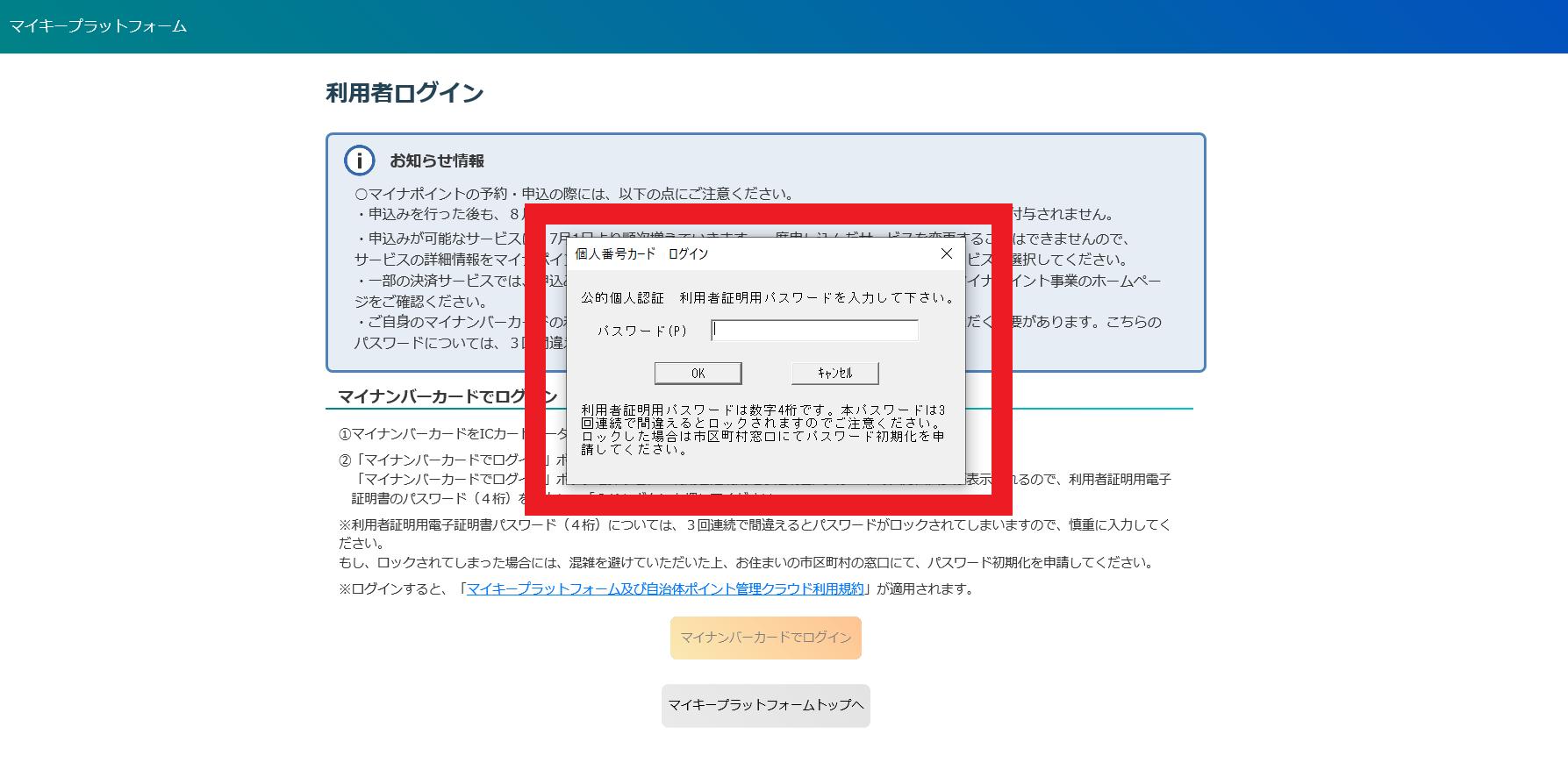 マイナポイント予約・申込確認03