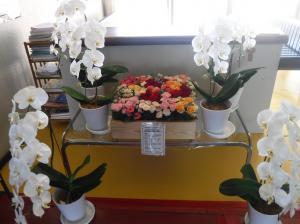 花き展示(商工会)