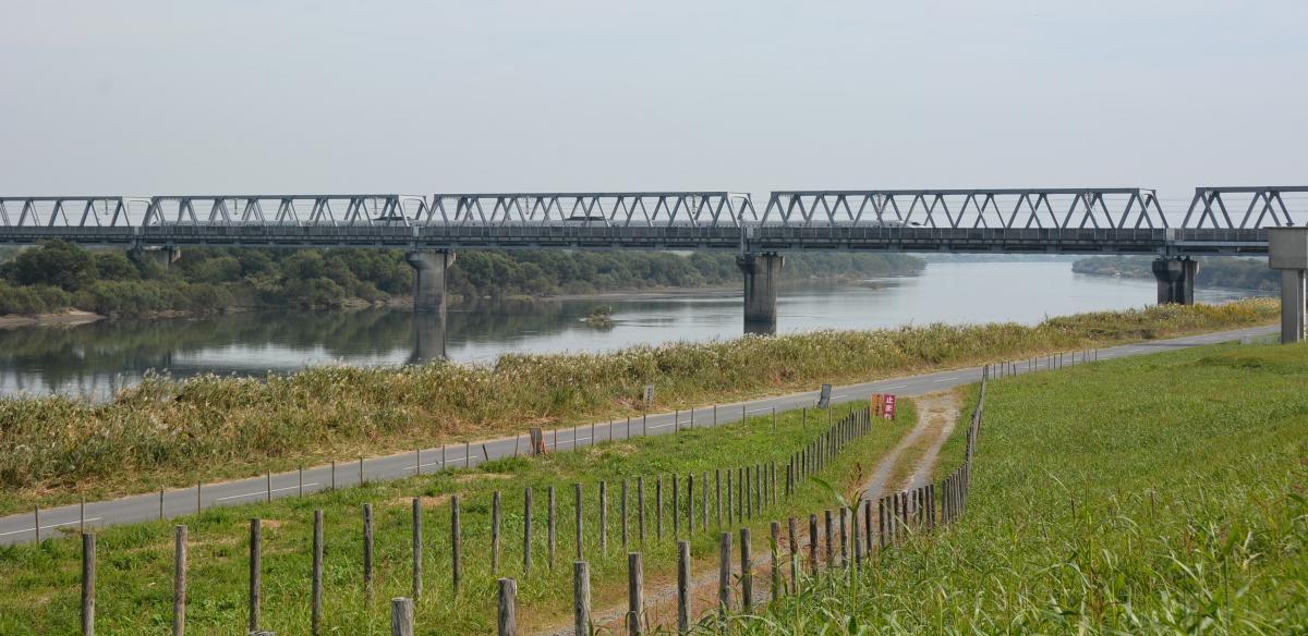 利根川の風景(川妻地区)